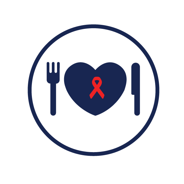 icon representing medical nutrition services for HIV patients