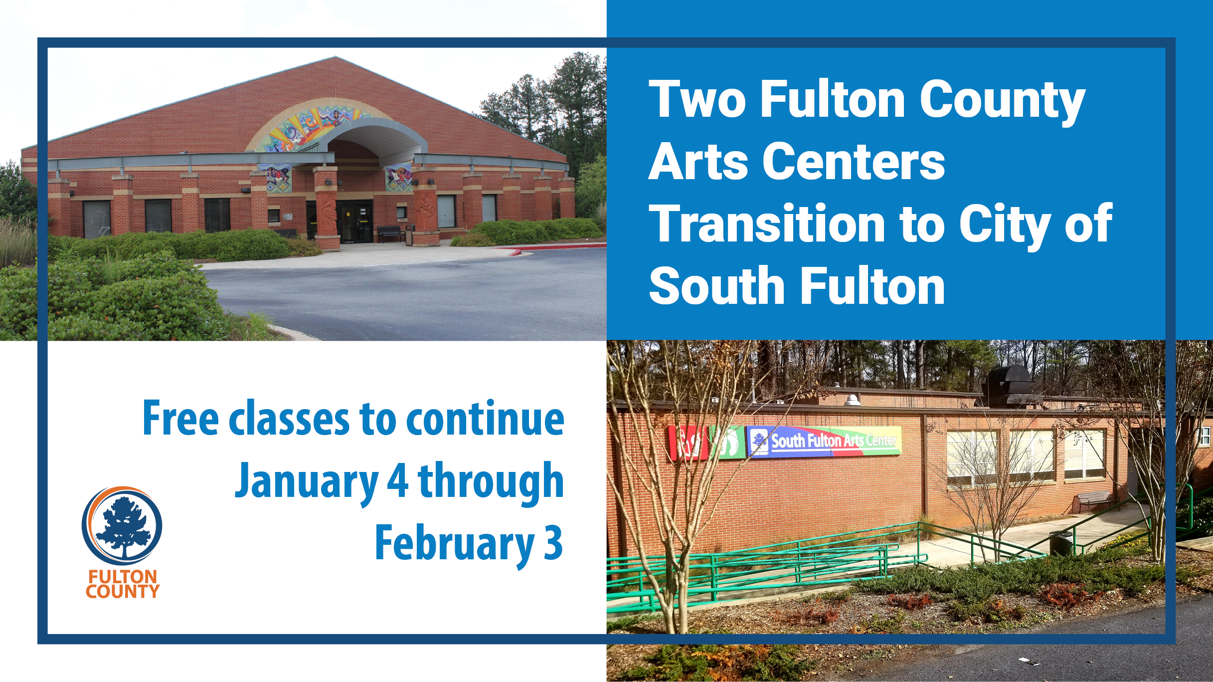 Two Art centers to transition to South Fulton