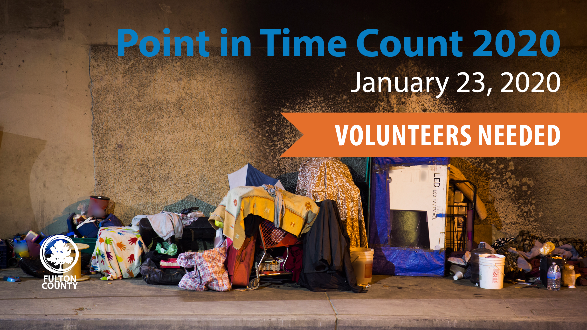 Point in Time Count volunteers needed Jan 22, 2020