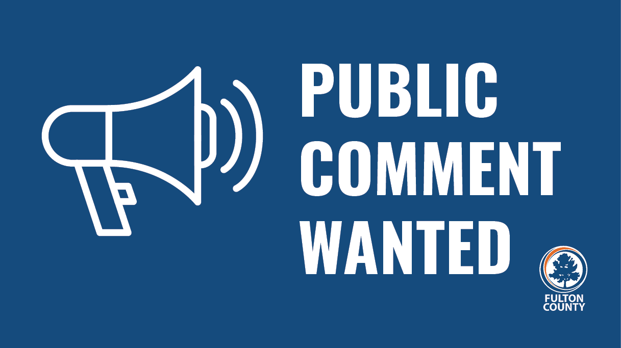 Public comment wanted graphic with megaphone