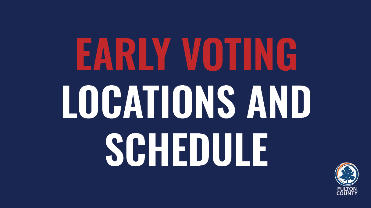 Early voting locations and schedule